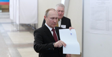 Russia held presidential election on Sunday