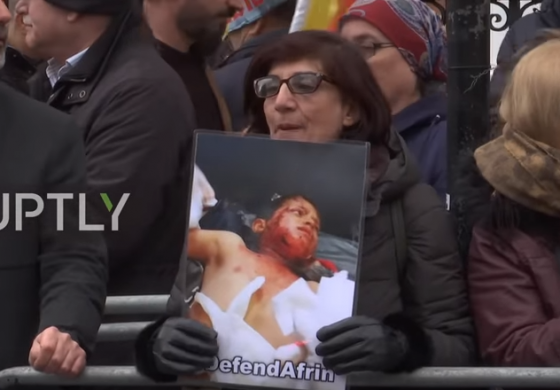 UK: 'Russia, shame on you!' - Protesters demand Moscow take action in Afrin